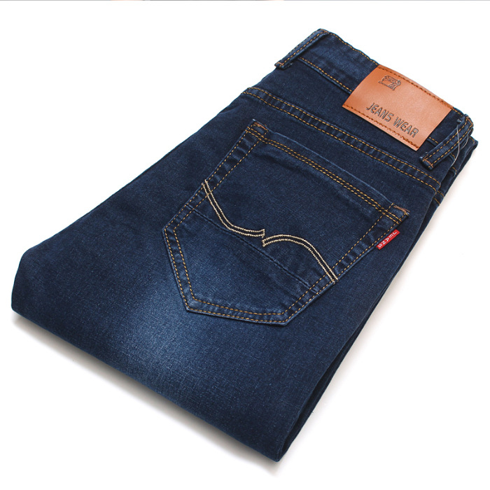 2019 New Style Men'S Wear Elasticity MEN'S Jeans Spring And Autumn Business Straight-Cut Loose Style Casual Long Pants