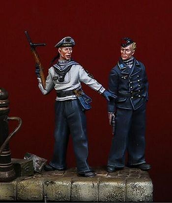 1/35 Ancient Navy Warrior (NO BASE JUST HAVE 2 MAN )    Resin Figure Model Kits Miniature Gk Unassembly Unpainted