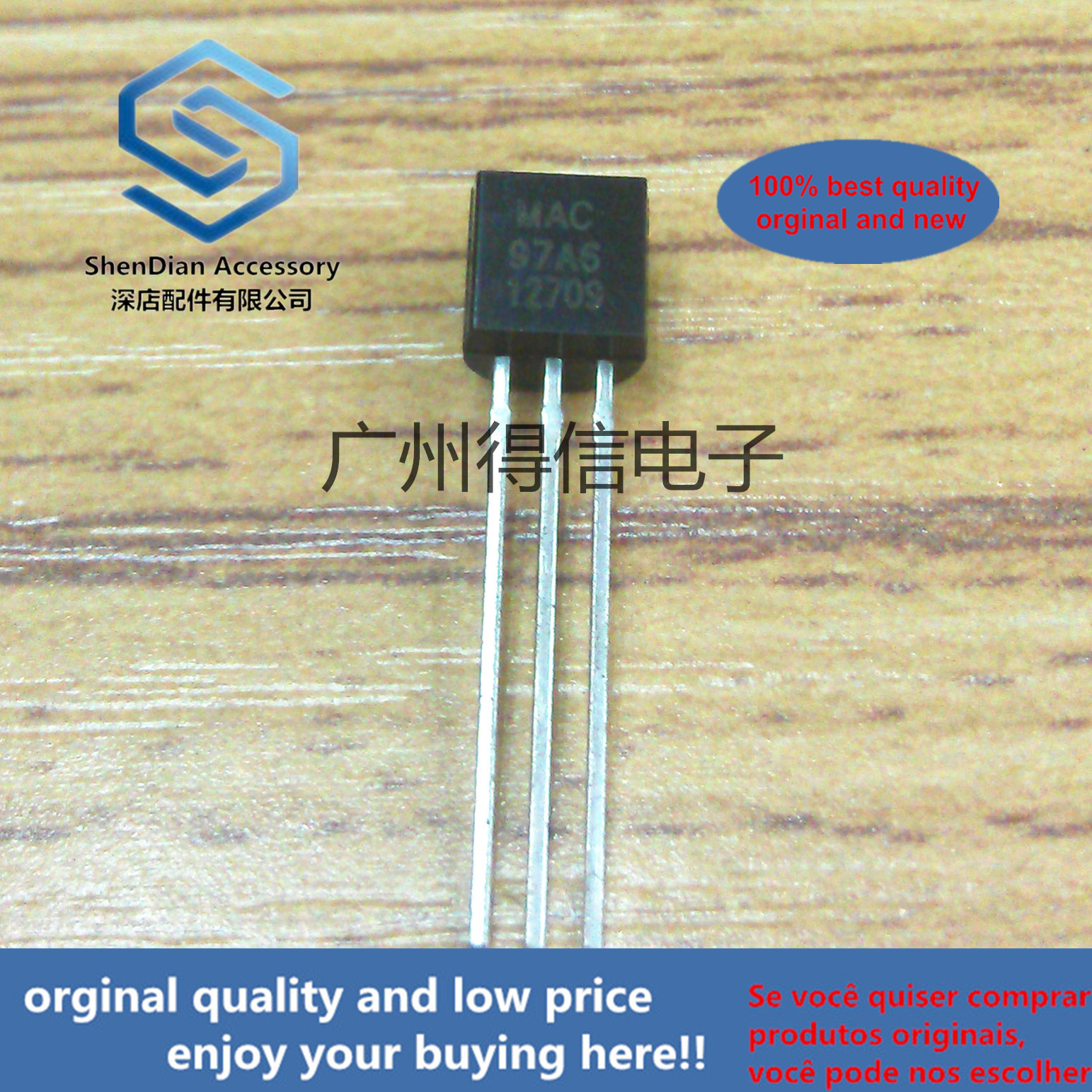 30pcs 100% Orginal New MAC97A6 97A6 To-92Logic Level Triac  Real Photo