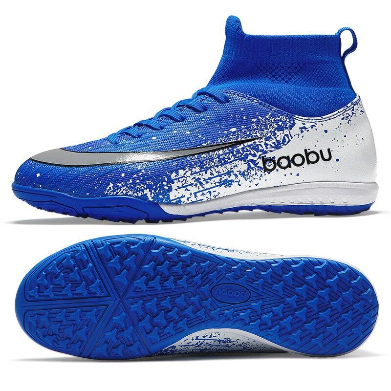 Bottes de Football garçon haute cheville AG chaussures de Football pour hommes HG chaussures de Football pour gazon artificiel FG unisexe chaussures de Football gazon