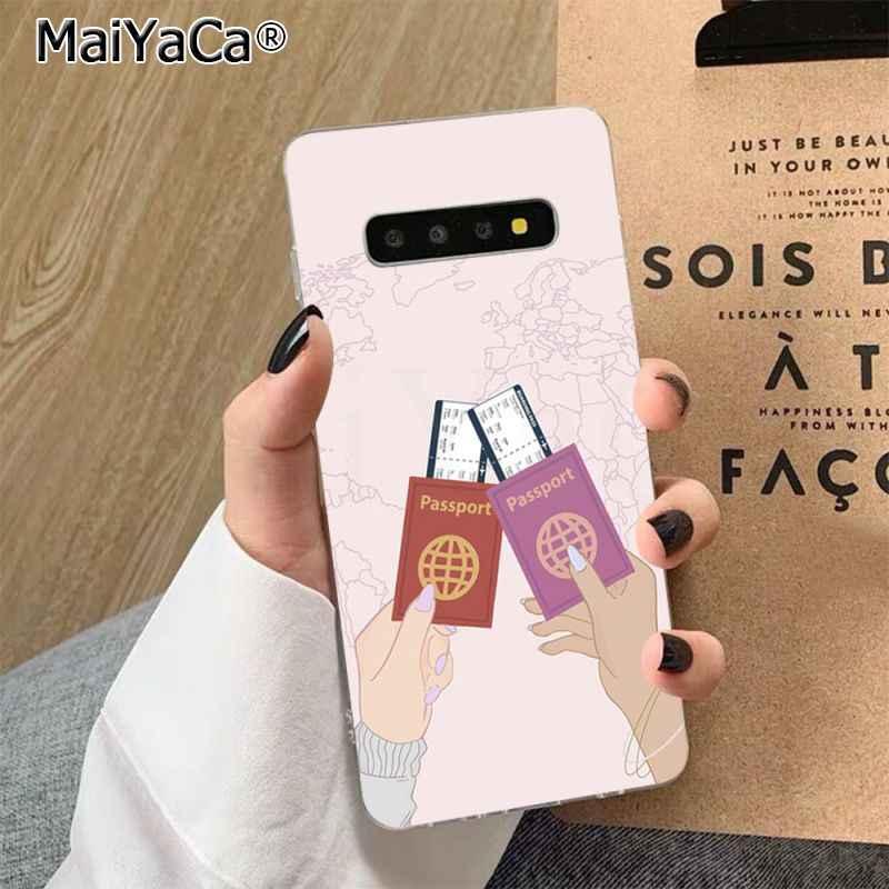 MaiYaCa ravelling dünya haritası seyahat telefon kılıfı kapak kabuk için Samsung S7 kenar S8 S9 S10 S20 artı S10 LITE s10 5G