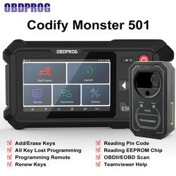 OBDPROG 501 Professional Key Programmer Car Diagnostic Tool Wifi Remote Key Master Immobilizer IMMO Code Reader OBD 2 Scanner