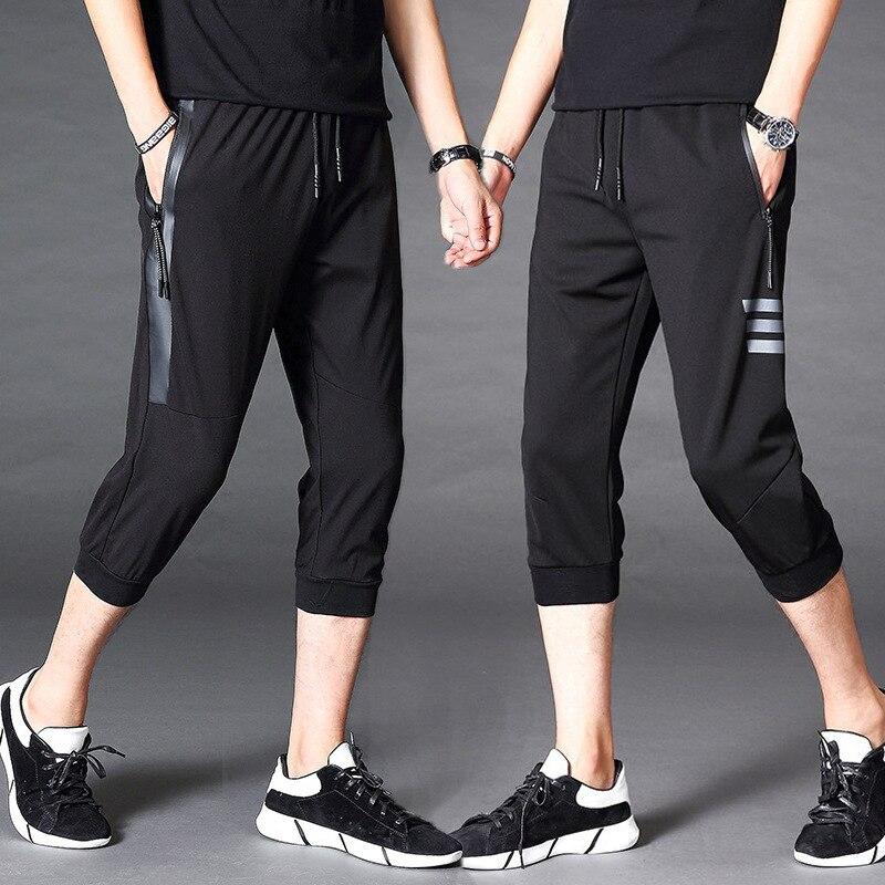 2018 Summer New Style Casual Korean-style Season Shorts Elasticity Capri Pants MEN'S Pants Loose-Fit Sports Skinny Men's Trouser