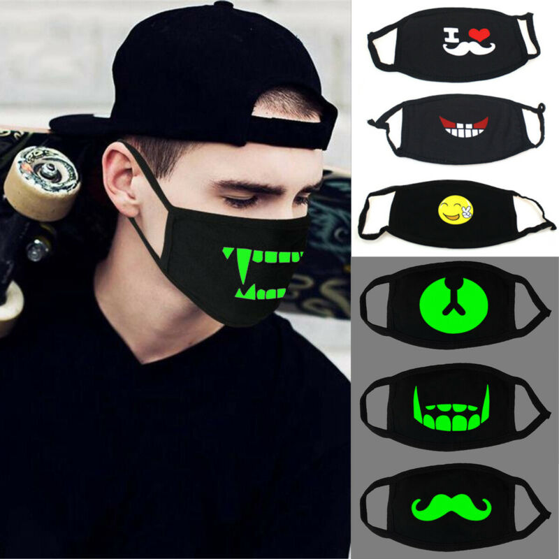 2020 Fashion Protective Adult Unisex Luminous Anti-Dust Cotton Mouth Face Shield Half Cover Cycling