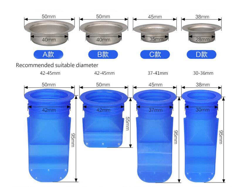 Домашний дренажный клапан, силиконовый кухонный фильтр, труба для ванной, канализационный слив, анти-запах, вредитель, пол из нержавеющей стали, слив HN27