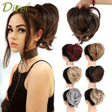 Scrunchie-Chignon Ponytail Rubber-Band Donut Messy Bun DIFEI Wrap Synthetic-Hair-Ring