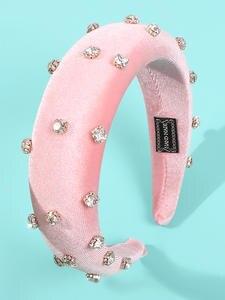 Headpiece Girl Headbands Hair-Headwear Crystal-Hair Pearls Wedding Handmade Hoop Padded-Sponge