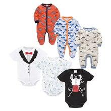6PCS/LOT Cotton Baby Bodysuits Sets Unisex Infant Jumpsuit Fashion Baby Boys Girls Clothes Long Sleeve Newborn Baby Clothing Set цены