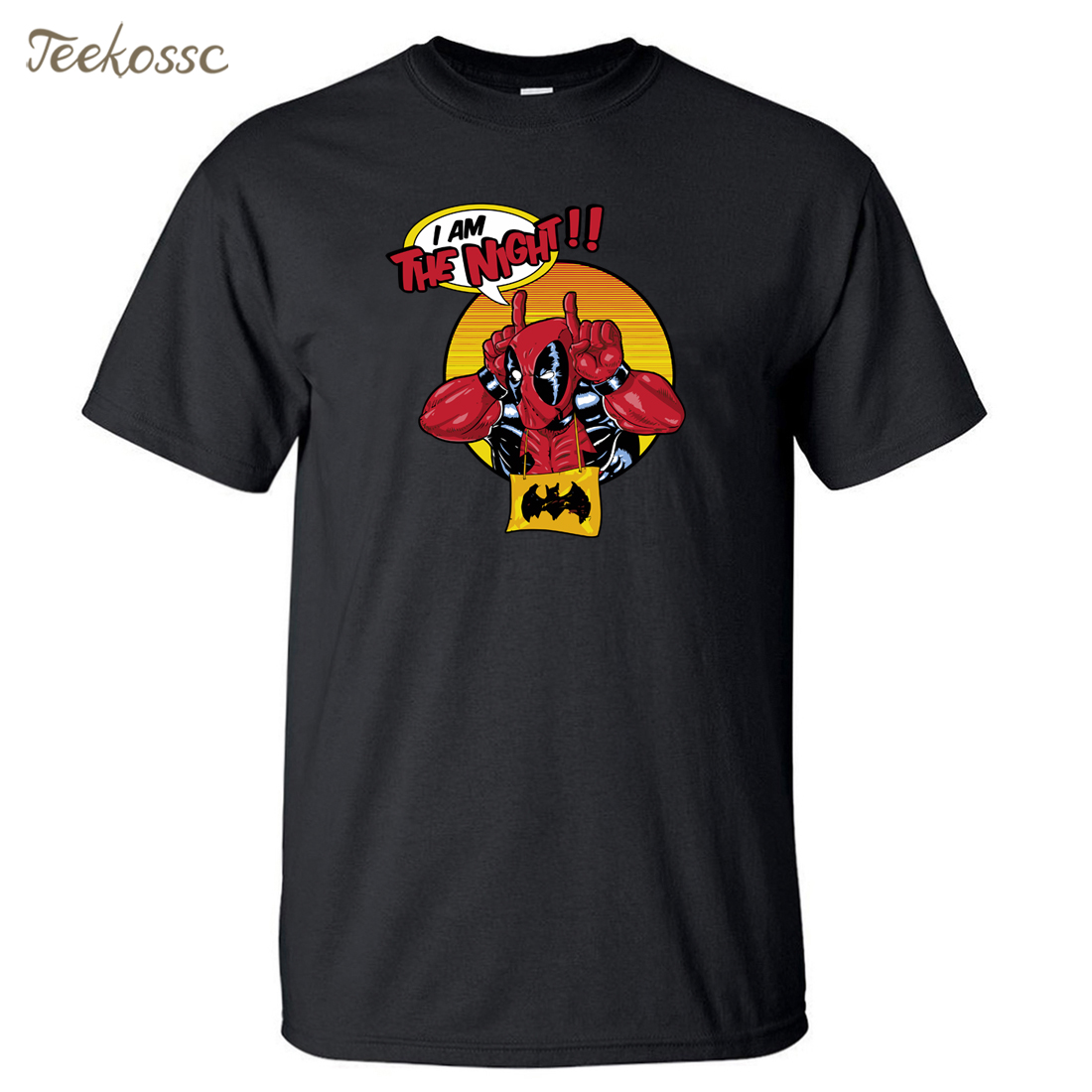 Deadpool T Shirt Men  I Am The Night Tshirt 2018 Summer Tops Tee Graphic T-Shirt Cotton Camiseta Dead Pool Funny T Shirts Mens
