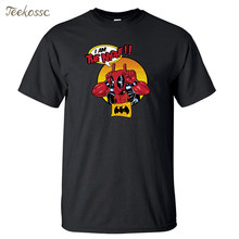 Deadpool Camiseta Hombre I Am The Night Camiseta 2018 verano Camisetas Camiseta gráfica algodón Camiseta Dead Pool divertidas camisetas para hombre(China)