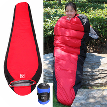 Outdoor Down Sleeping Bag Thick Ultralight Super Warm Camping Hiking Mummy 215*78*55cm