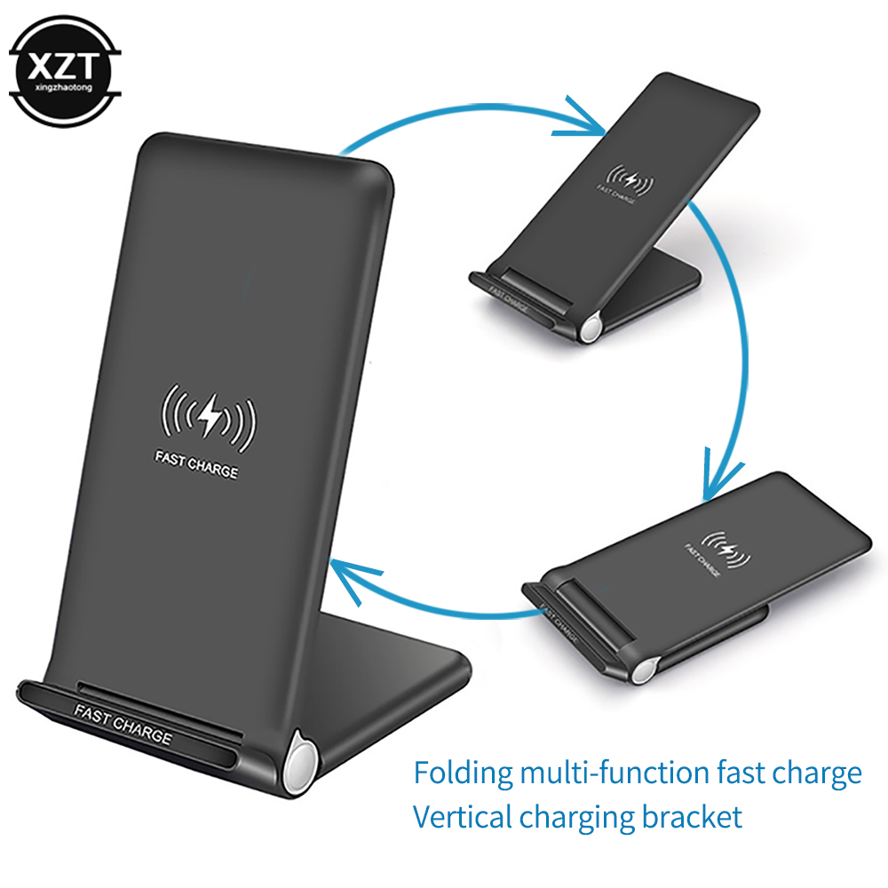 Stand-Holder Charge-Pad Fold Fast-Charging Wireless-Charger iPhone 11 Samsung S10 Qi title=