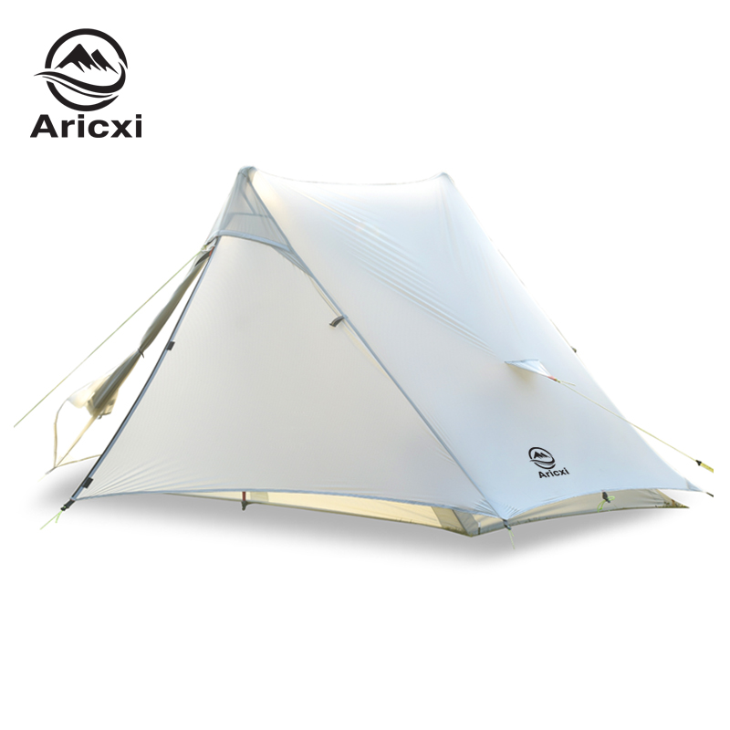 Aricxi light 2 Outdoor Ultralight Camping Tent 2 person Professional 15D Silnylon Rodless Tent title=