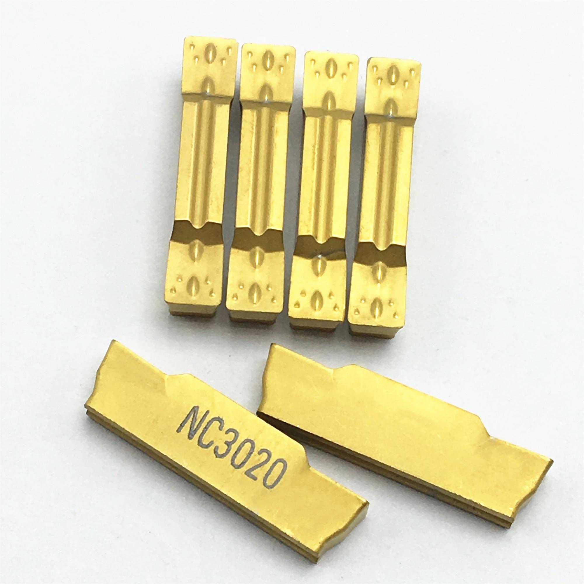 10pcs SP400 NC3020 GTN-4 Grooving Cut-Off Carbide Inserts 4mm Width For CNC Tool