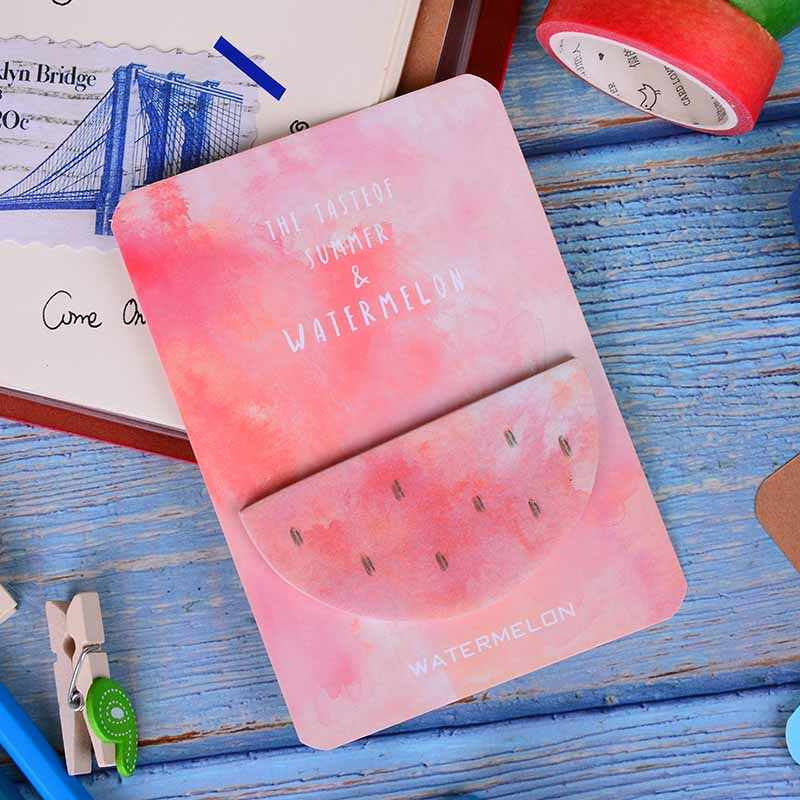 1 PC Cat Air Geometris Self-Adhesive Memo Pad 30 Halaman Memo Pad Lengket Catatan Bookmark Label Perlengkapan Sekolah