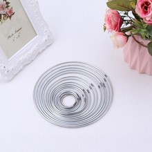 Round Metal Hoop Dreamcatcher Ring Wall Hangings Macrame Crafts Home DIY Decor(China)
