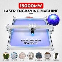 15W / 3000mw 50x65cm CNC Laser Engraver Engraving Machine for Metal/Wood Router/DIY Cutter 2Axis Engraver Desktop Cutter+ Laser