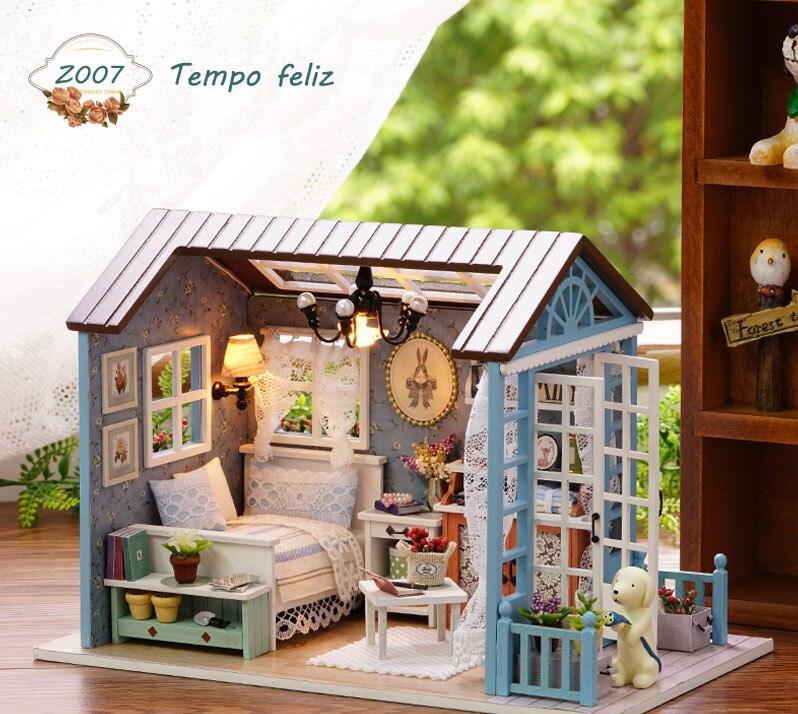 com móveis de madeira casa cutebee roombox