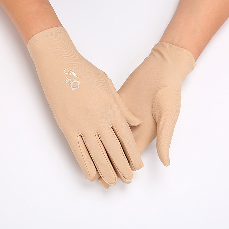 Women Cheap Manner Gloves With Flower Embroidery High Quality Performance Gloves Short Waitress Glove Female White Manner Gloves