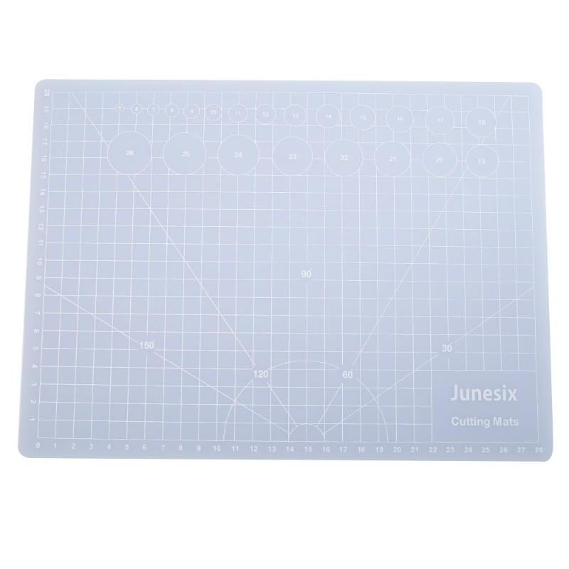 Transparent PVC Cutting Mat A3/A4/A5 Cut Board Writing Drawing Pad Measuring Grid Silhouette Assist Tool For Students School