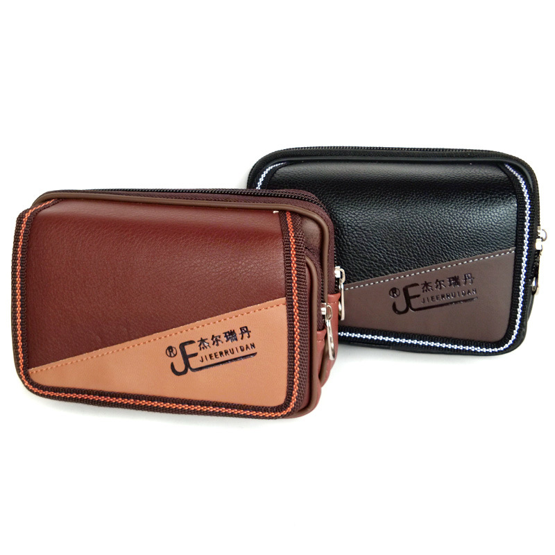 Hot Selling 5-Inch Mobile Phone Waist Bag Men's Wear Leather Belt Military Three-proof Phone Cellphones Cross