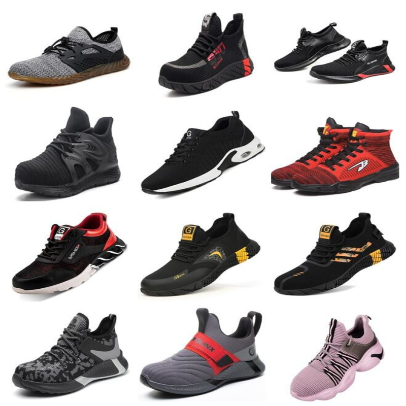 Breathable Safety Shoes Men Boots Anti-Smashing Construction Work Sneakers Lightweight Steel Toe Cap Work Safety Boot For Women