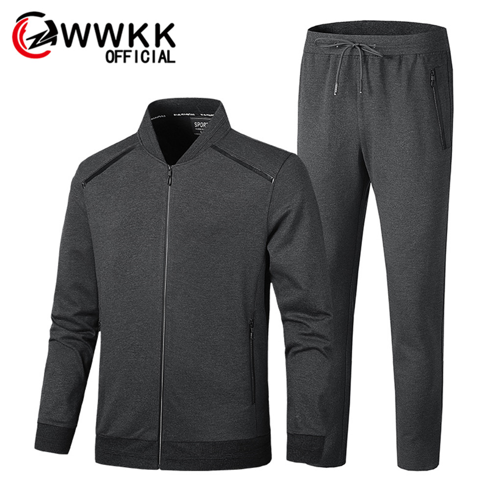Mens Sportswear Set Brand Male Tracksuit Sporting Fitness Clothing Two Pieces Men's Track Suit Long Sleeve Jacket + Pants Casual