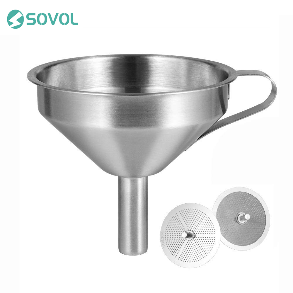 Sovol 3D Printer Resin Filter Funnel 100% Food Grade Durable Stainless Steel Removable Double-Strain