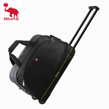 OIWAS Men Trolley Duffle Bag 56L Water-Repellent Foldable Rolling Suitcase Hand Luggage With Wheels Carry-On Bags Expansion Pack