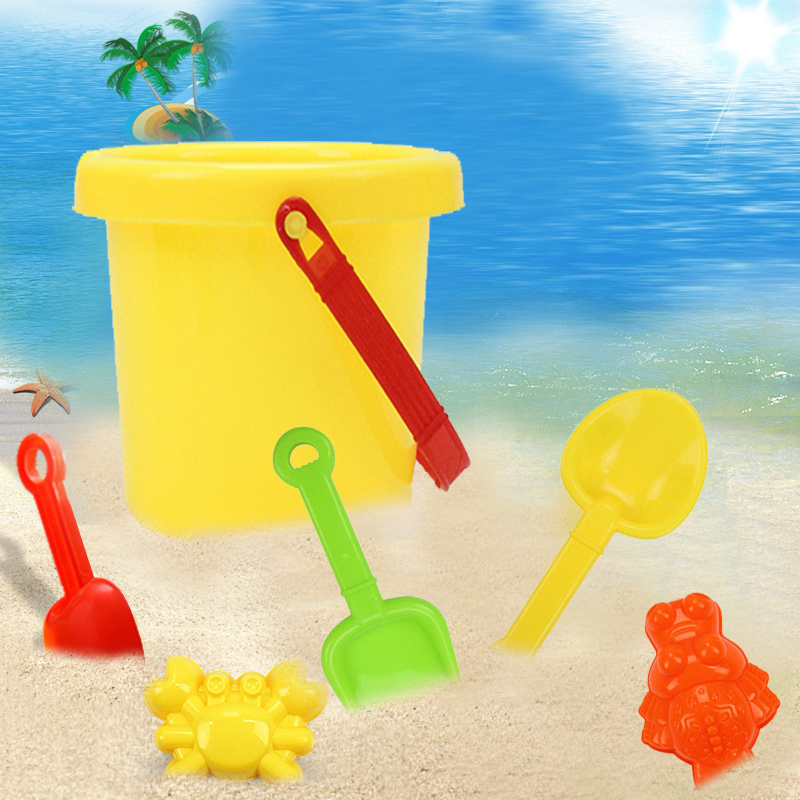6 Sets Children's Beach Toy Car Suit Baby Play With Sand Dug Tool
