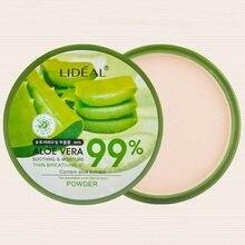 New Natural Aloe Vera Moisturizing Smooth Foundation Pressed Powder Makeup Concealer Face Whitening Brighten Powder