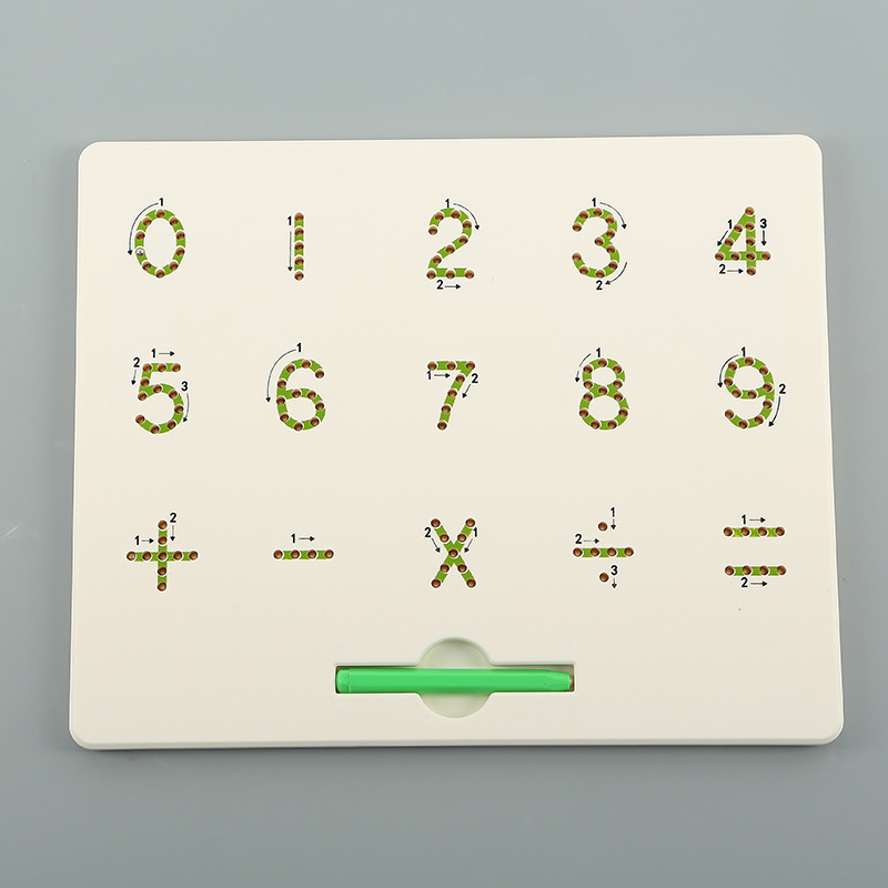Steel Ball Magnetic Drawing Board Lettered With Numbers Magnetic Drawing Board Educational Creative Toy Export Europe And Americ