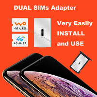 Dual Sim Card Double Adapter Convertor to dual Sim For IPhones  Simhub 4th version for iphones dual sim change from single card|SIM Card Adapters|Cellphones & Telecommunications -