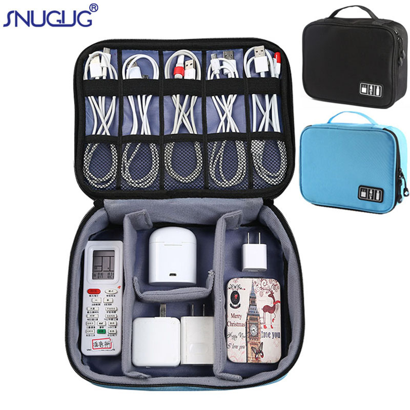 Digital Cable Bag Men Portable Travel Gadgets Pouch Power Cord Charger Headset Organizer Drive Electronic Suitcase Accessories(China)