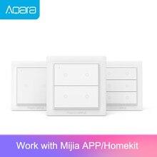 Aqara Opple زيجبي مفتاح ذكي مفتاح الإضاءة الذكية App التحكم اللاسلكي الجدار التبديل العمل مع Mijia App أبل Homekit