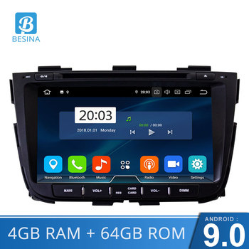Besina Android 9.0 Car DVD Player for KIA SORENTO 2013 2014 GPS Navigation 2 Din Car Radio Stereo Multimedia Autoaudio WIFI CD