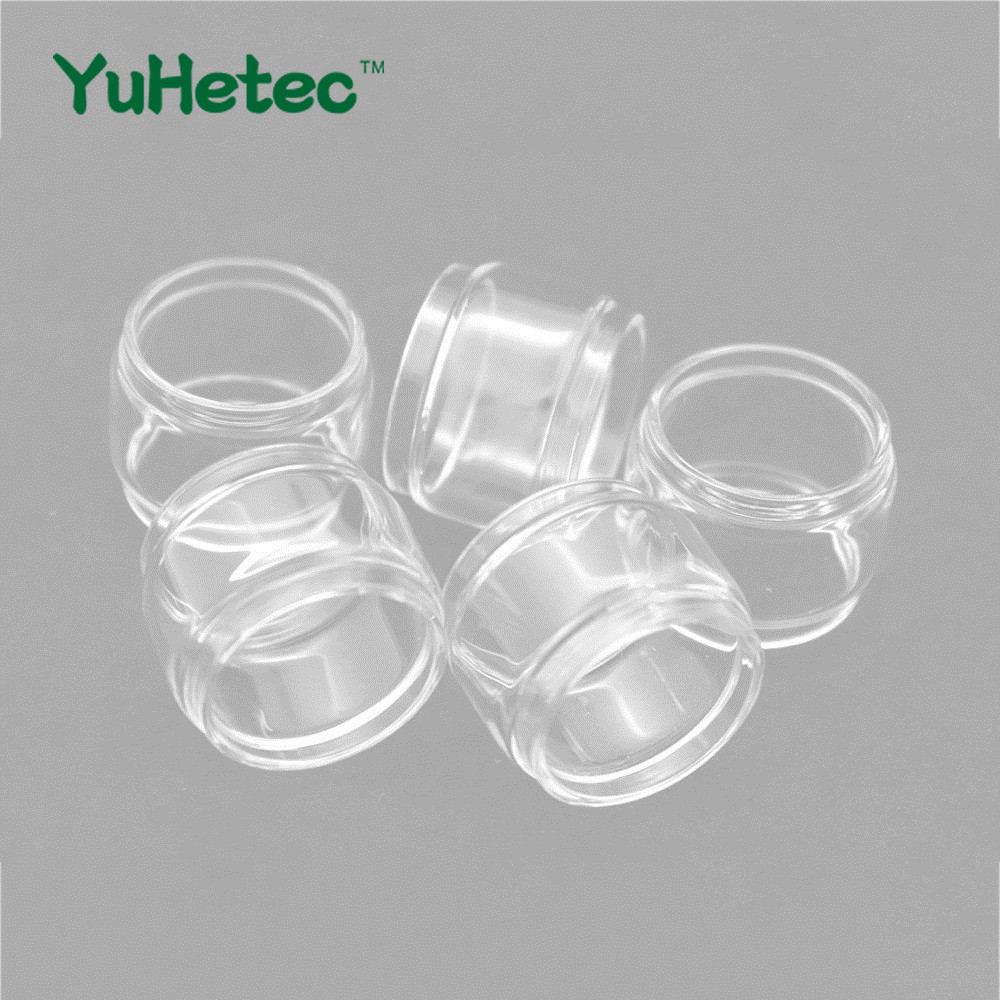 5pcs YUHETEC Replacement Fat Glass Tank /Straight Glass For GeekVape Zeus X RTA 4.5ml Bubble Glass Fatboy Tube
