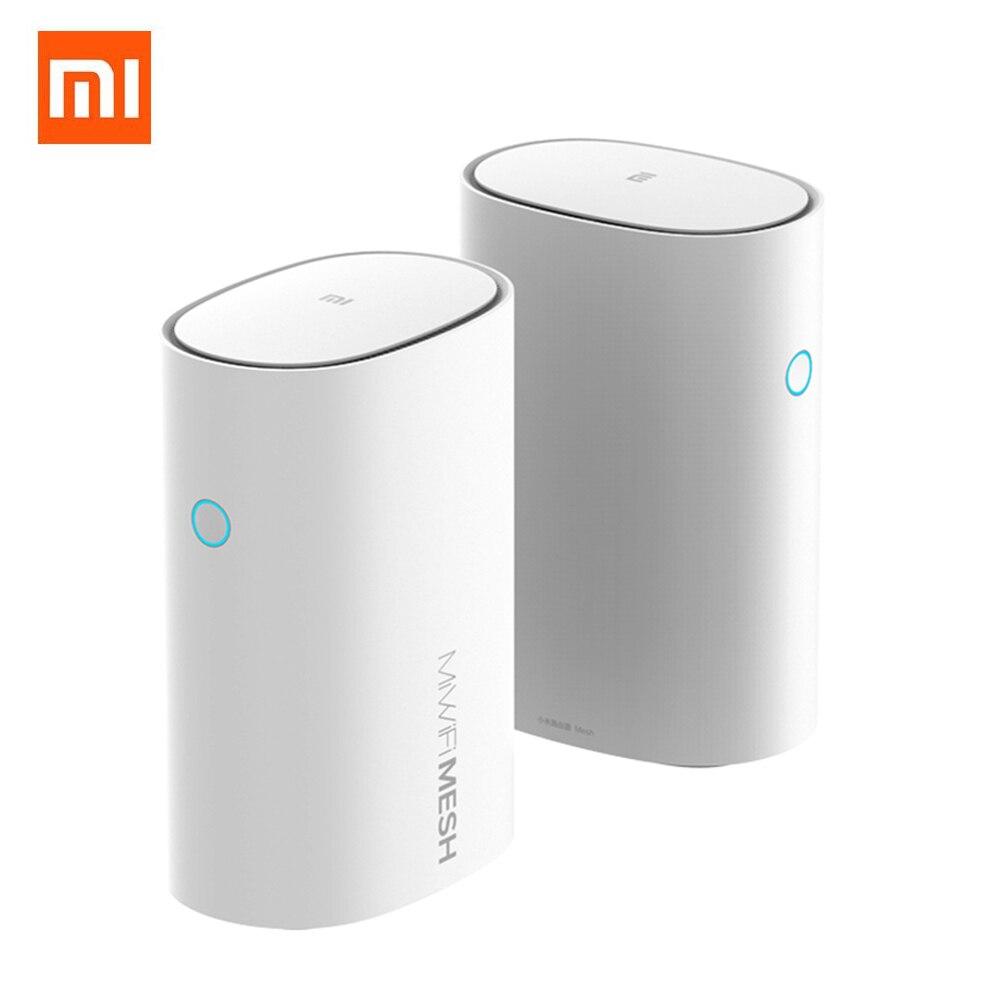 2 pièces Xiaomi routeur maille 2.4 + 5GHz WiFi routeur intelligent AC1300 + 1000M LAN + 1300M ligne électrique amplificateurs de Signal réseau intelligent