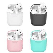 Tpu Siliconen Bluetooth Draadloze Oortelefoon Case Voor Airpods Beschermende Cover Skin Accessoires Voor Apple Air Pods Opladen Doos