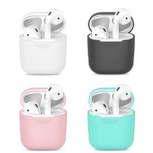 Tpu silicone bluetooth sem fio fone de ouvido caso para airpods capa protetora acessórios da pele para apple ar pods caixa de carregamento