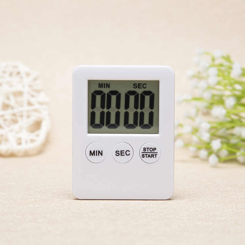 2019 New 1Pcs 6 Colors Super Thin LCD Digital Screen Kitchen Timer Square Cooking Count Up Countdown Alarm Magnet Clock