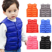 HH Kids vest sleeveless jacket Children's clothing waistcoats for boys cotton Winter Autumn toddler girl vest outwear Jacket(China)