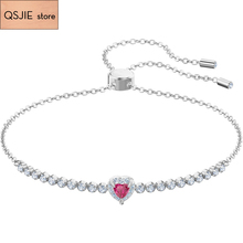 High-quality SWA new exquisite heart-shaped Bracelet women's clavicle chain fashion design gift Charm Bracelet