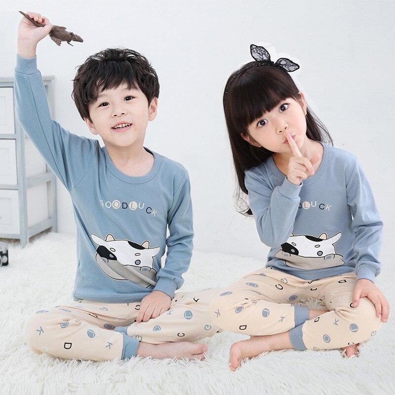 Fall Children Pajama Sets Cartoon Kids Pijamas Homewear Clothing Pajamas For A Boy Of 12 Years Sleepwear Cotton Teens Nightwear