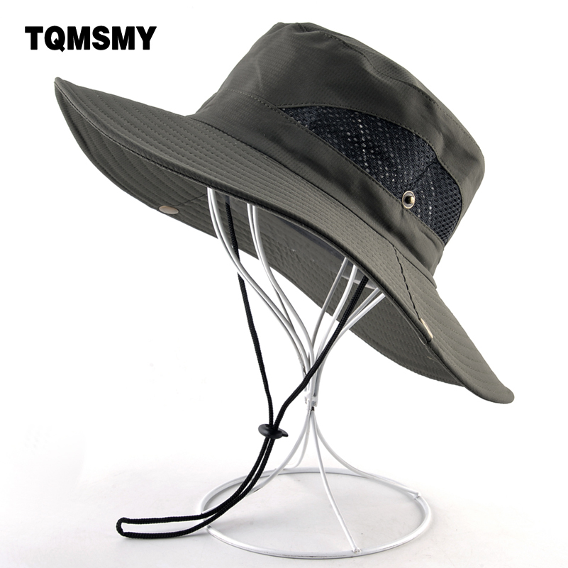 Solid Color Sun Hats For Men Outdoor Fishing Cap Wide Brim Anti-UV Beach Caps Women Bucket Hat Summer Hiking Camping Bone Gorros