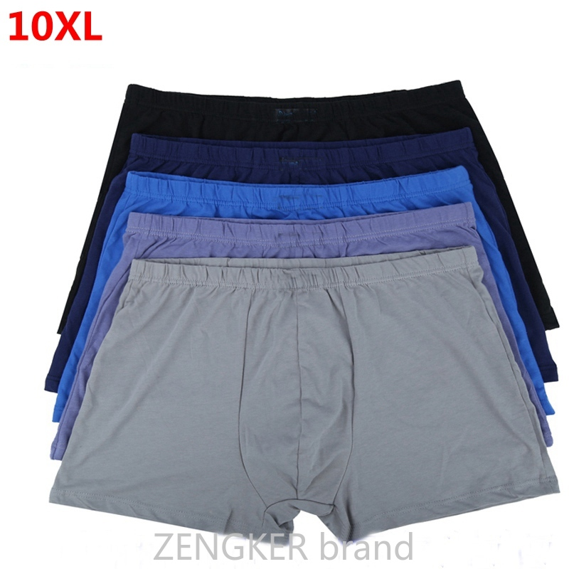 Large Size Male  Cotton Underwears Loose  Boxers Oversized Panties 10XL 9XL 8XL7XL Belts Big Yards Men's Boxer Briefs Plus Size