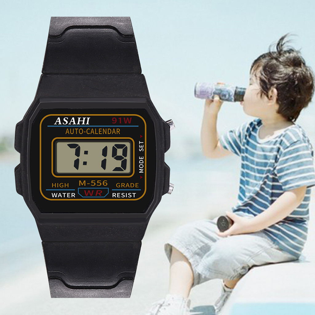 Luxury Children Analog Digital Sport LED Waterproof Wrist Watch New LED Quartz Alarm Date Sports Wrist Watch Dropshipping 9.3
