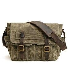 Classic Tooling Shoulder Shoulder Bag Canvas Bag Vintage Wat