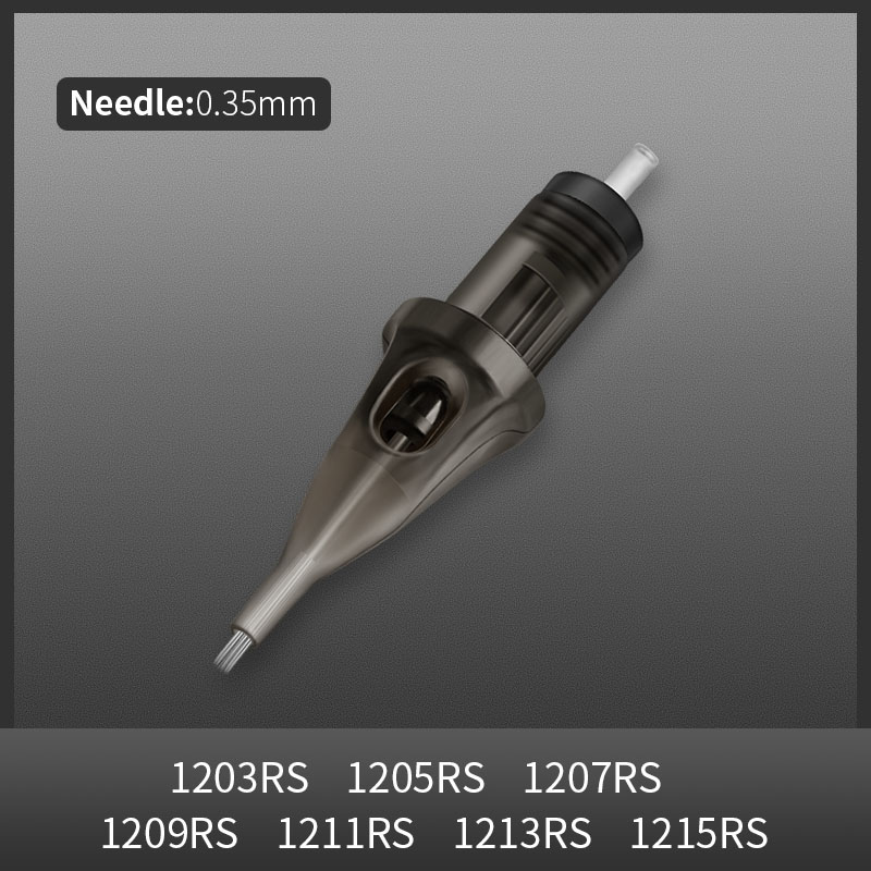 #12 Standard Disposable Tattoo Needles 10pcs 0.35MM Round Shader Sterilized Safety Cartridge Tattoo Needle with Membrane