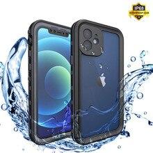 IP68 עמיד למים טלפון מקרה עבור iPhone 12 11 פרו מקסימום X XR XS מקס ברור סיליקון פגז עבור Apple SE 8 7 6 6S בתוספת עמיד הלם כיסוי